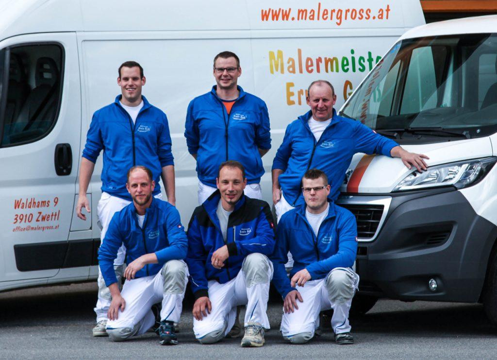 Malermeister Erwin Groß und sein Team